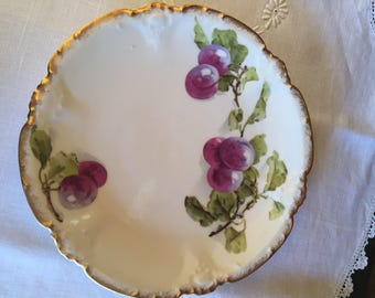 Early 20th Century Limoges Fruit Design Plate