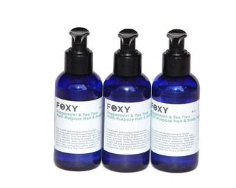 Fox Peppermint & Tea Tree Shampoo 3-pack (3.4oz each)