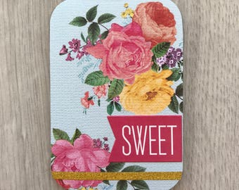 Magnetic Bookmark~ Sweet Floral