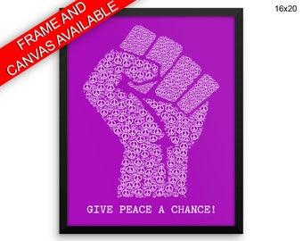 Give Peace A Chance Prints  Give Peace A Chance Canvas Wall Art Give Peace A Chance Framed Print Give Peace A Chance Wall Art Canvas Give
