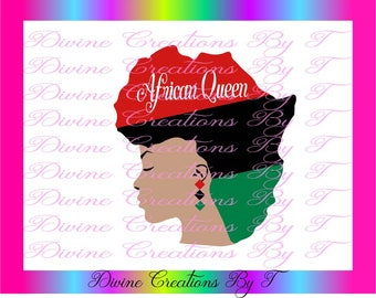 The African Queen  (My Creation) SVG, DXF,EPS