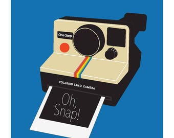 Oh, Snap! Downloadable Vintage Camera Print Poster