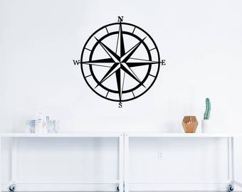 Nautical Compass Decal