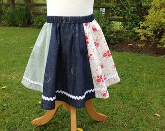 Girls Summer Panel Skirt