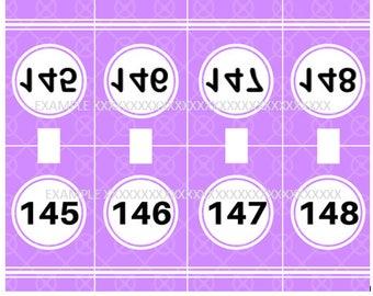 Mirror Image Live Show Hanger Tags Numbers 1-240  INSTANT DOWNLOAD Direct sales, Lularoe, Dot Dot Smile