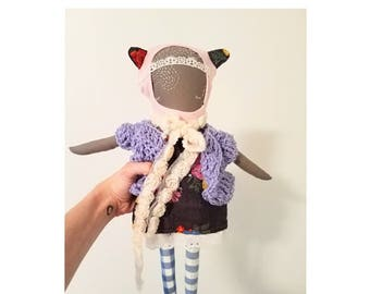 INEFFABLE EFFIE! One-of-a-kind handmade cloth ragdoll, now available in shop!