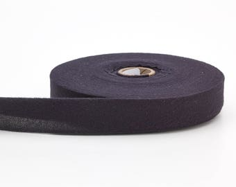 "Quilt binding, brushed, 1"" centerfold, 25 yds, Black"