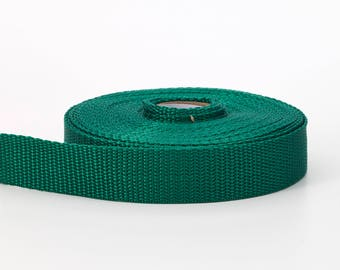"Polypropylene webbing, 2"" Wide, 10 yds, Kelly"