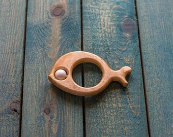 Fish toy for baby | Wooden teether | Wooden toy | Baby toy | ECO FRIENDLY TOY