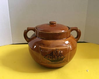 Holiday Designs Cookie Jar Stoneware H4041- USA - NAUTICAL