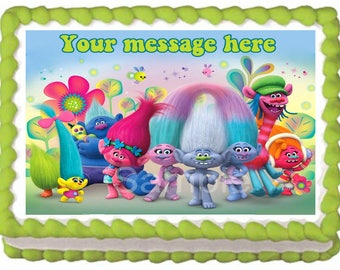 TROLLS Edible cake topper image party decoration