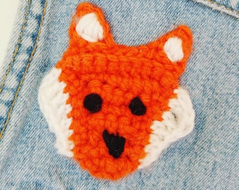 Crochet Fox Applique