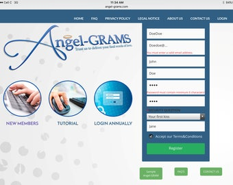 Life is uncertain!  Buy an Angel-gram today and store your farewell messages to your loved ones'.  www.angel-grams.com