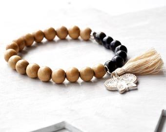 Bracelet caramel & agate