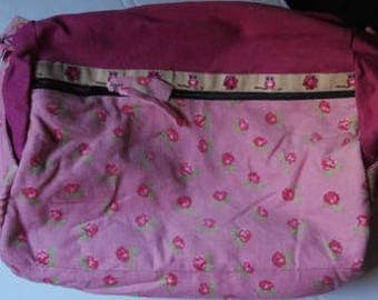 Cylinder bags, hand bag, sports bag, color mix, jeans