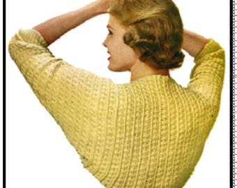 Madison Classic Shrug Pattern, Crochet Pattern, Vintage Pattern, Retro