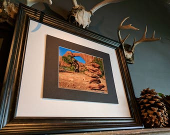 Cairn and Windows Arch Photograph, Nature Photography, 8x10 (does not include frame)