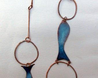 Copper enameled fish Collama