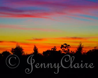 silhouette sunset digital download photography