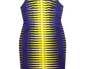 Saffron African print fitted dress