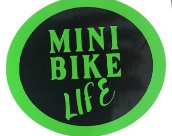 Mini Bike Life Decal-Bumper Sticker