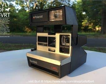 Polaroid Sun 600 LMS Instant Camera - Retro 80s 1983 Model Polaroid Instant Film Camera - Vintage Camera, Retro Camera, Vintage Photography