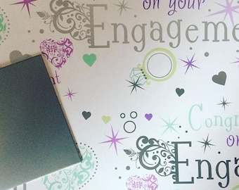 Engagement Gift Wrapping Paper Congratulation Marriage Engage