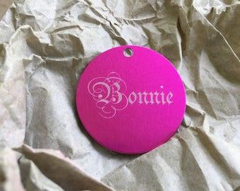 Custom lettering tag
