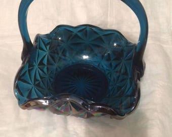 Blue/Green Glass Basket