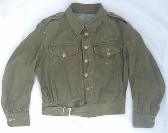Original 1955 Dated British Army Denim Battledress Blouse