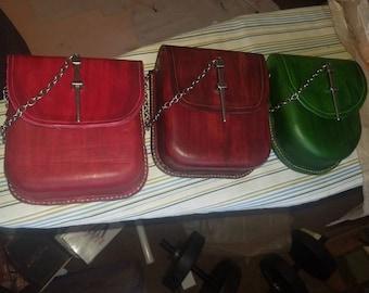 Renaissance leather belt bag