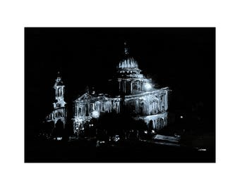 St Pauls Cathedral, London- Giclee print from original ink drawing. Trending; Black & White art by Lubna Speitan