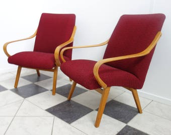 Set 1960's chairs from Chech republic. reupholstered