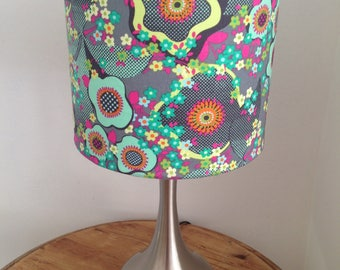 Handmade Drum Lampshade in Amy Butler Cotton Fabric