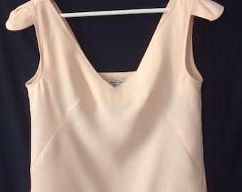 Pink powder low-cut TOP back details shoulders made in Paris
