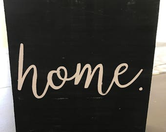 Home wood sign - sign - wooden sign - housewarming gift