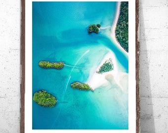 Ocean Beach Islands Print // Island Blue Water Ocean Digital Download // Immediate Download // Beach Sand Ocean Waves Water Islands