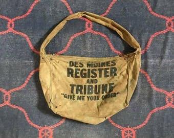 Vintage Newspaper Canvas Bag 1950~1960s