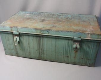Vintage industrial storage chest