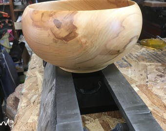 One of a Kind Silver Maple Bowl