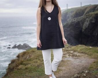 Linen Shift Dress / Tunic