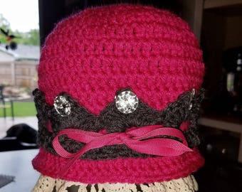 Girls - Princess Hat Pink and Brown