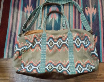Boho tribal weekender bag
