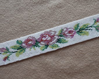 Beaded Rose Garland Trim / Embellishment
