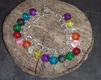 Glass Chain Bracelet
