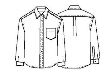 Men's Dress Shirt Template