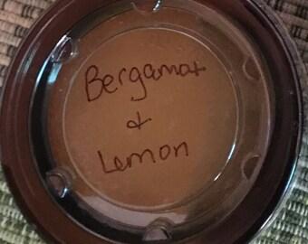 Bergamot and lemon sugar scrub