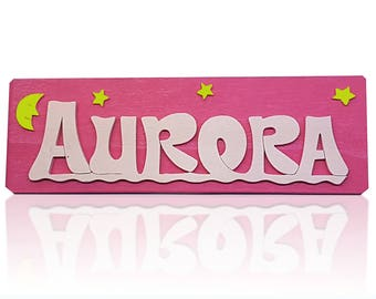 Custom door nameplates or desk