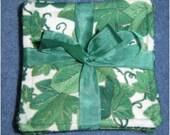"""English Ivy Fabric Coaster set of 6 - 3 3/4"""""""