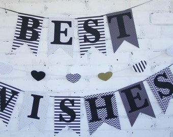 Black and White Best Wishes Banner